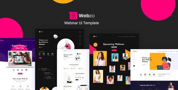 Webza - Webinar Landing Page UI Template - UI Templates
