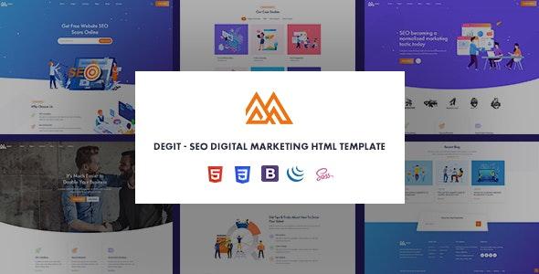 Degit - SEO Digital Marketing Agency HTML Template - Miscellaneous Site Templates