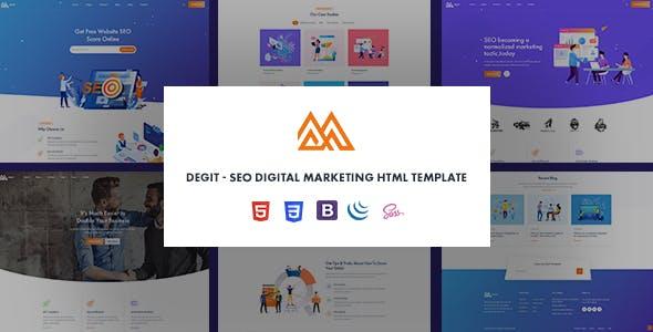 Degit - SEO Digital Marketing Agency HTML Template