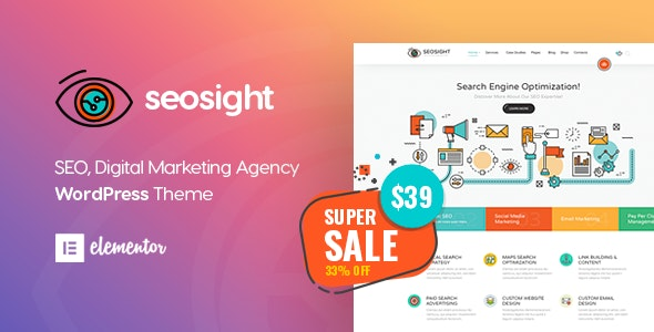 Seosight - Digital Marketing Agency WordPress Theme - Marketing Corporate