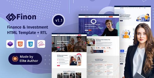 Finon - Finance & Investment Company HTML Template - Business Corporate
