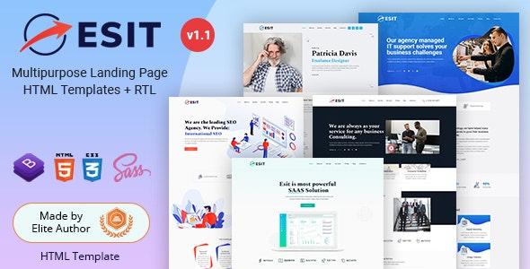 Esit - Multipurpose Landing Page HTML Template - Marketing Corporate