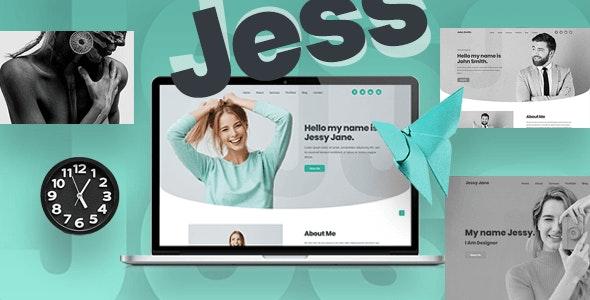 Jess - Personal, Portfolio, CV & Resume Website Template - Personal Site Templates