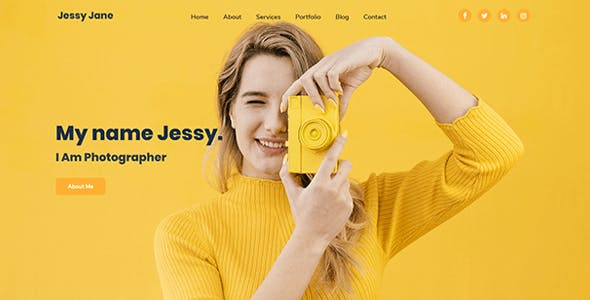 Jess - Personal, Portfolio, CV & Resume Website Template