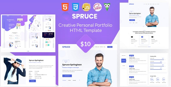 Spruce - Personal Portfolio and vCard Template - Portfolio Creative