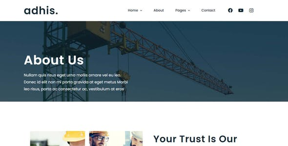 Adhis - Construction Elementor Template Kit