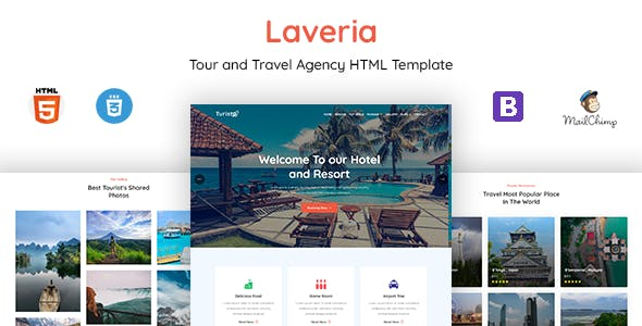 Laveria - Tour & Travel Agency Template