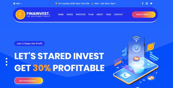 FinaInvest - HYIP Html Template