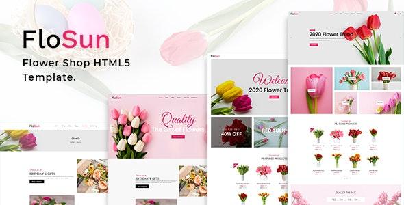 FloSun - Flower Shop HTML5 Template - Shopping Retail