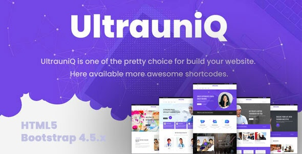 Ultrauniq | Multi-Purpose HTML5 Template - Creative Site Templates