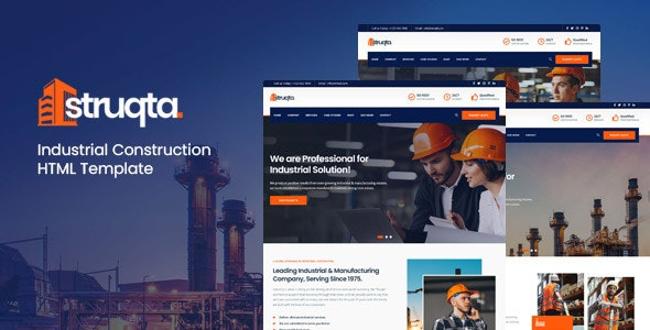 Struqta - Industrial & Construction HTML Template - Business Corporate