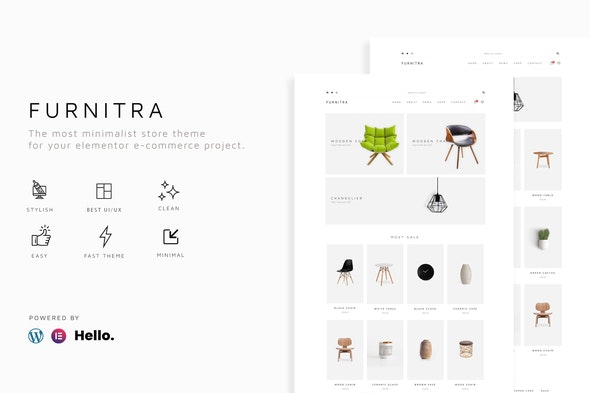 Furnitra - Modern eCommerce Elementor Template Kit - Shopping & eCommerce Elementor