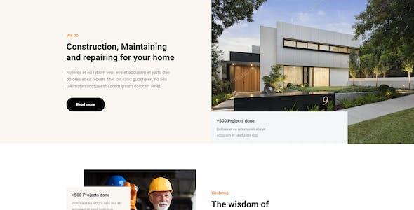 Tammer - Construction & Maintenance  Elementor Template kit