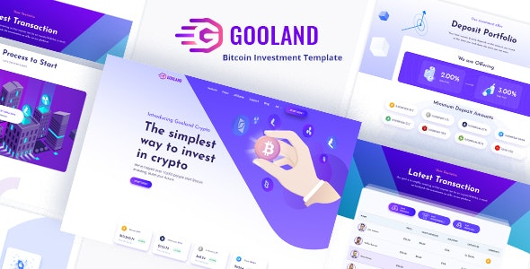 Gooland - Bitcoin Investment PSD Template - Business Corporate