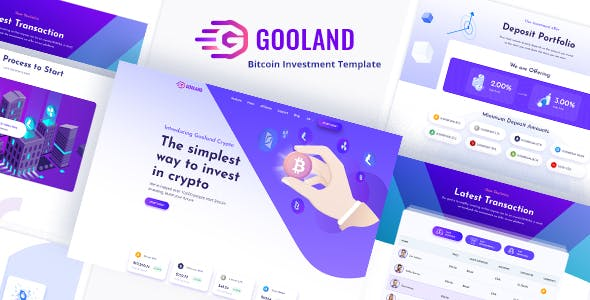 Gooland - Bitcoin Investment PSD Template