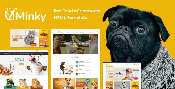 Minky Pet Food Responsive eCommerce HTML 5 Template