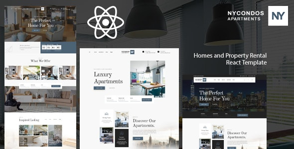 NYCondos - Home Rental React Template - Business Corporate