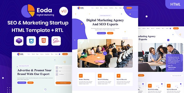 Eoda - SEO & Marketing Startup HTML Template - Business Corporate