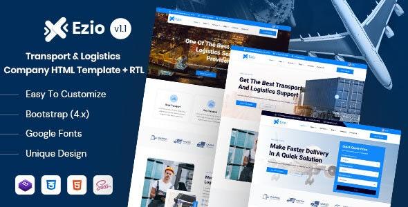 Ezio - Transport & Logistics Company HTML Template - Business Corporate