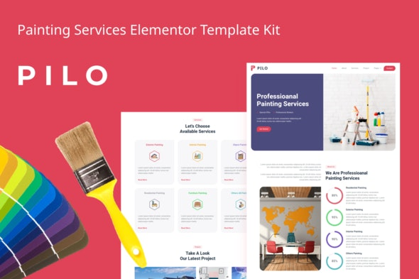 Pilo - Painting Services Elementor Template Kit - Business & Services Elementor
