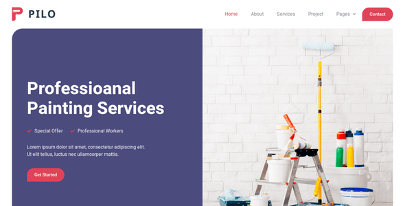 Pilo - Painting Services Elementor Template Kit