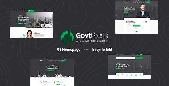 GovtPress - Municipal and Government PSD Template