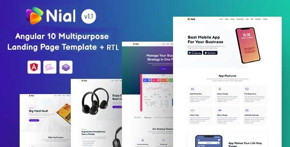 Nial - Angular 10+ Landing Page Template