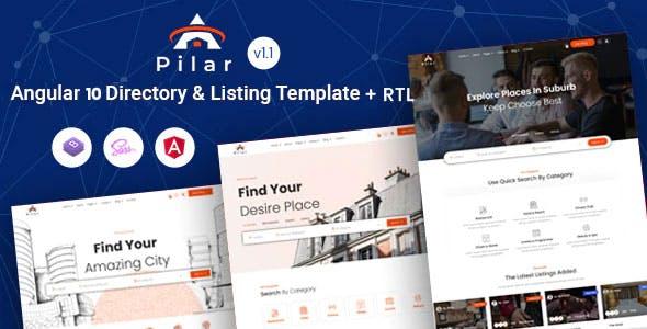 Pilar - Angular 10+ Directory & Listing Template