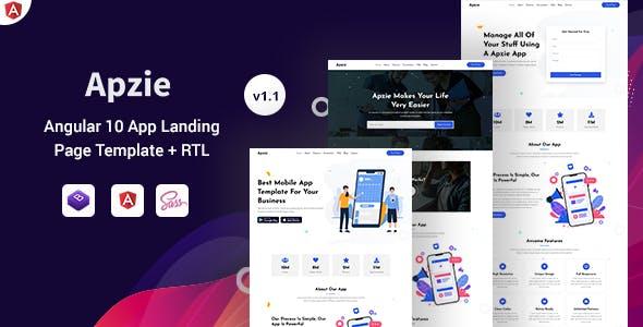 Apzie - Angular 10+ App Landing Page Template
