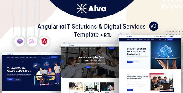 Aiva - Angular 10+ IT Solutions Template