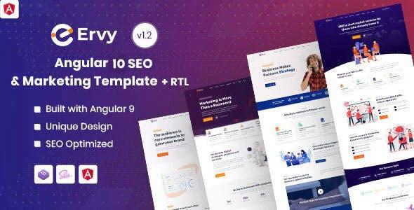 Ervy - Angular 10+ IT & SEO Company Template