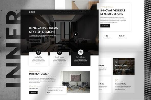 Inner – Interior Design & Architecture Template Kit - Creative & Design Elementor