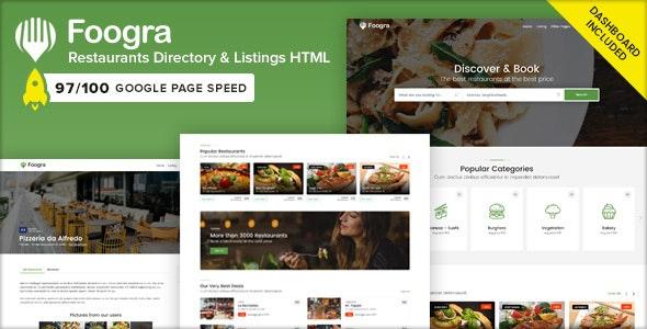 Foogra - Restaurants Directory & Listings Template - Business Corporate