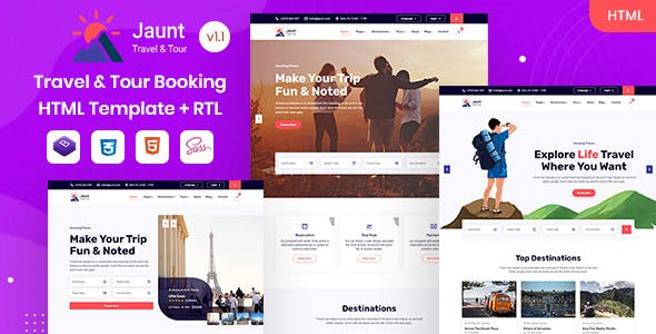 Jaunt - Travel & Tour Booking HTML Template