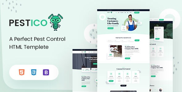 Pestico - Pest Control Services HTML Template - Business Corporate