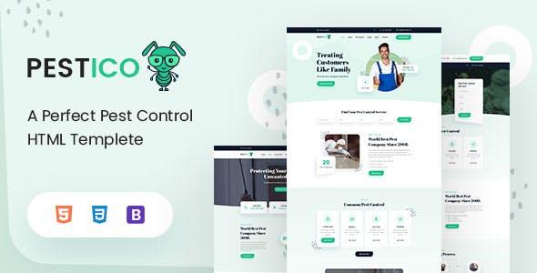 Pestico - Pest Control Services HTML Template