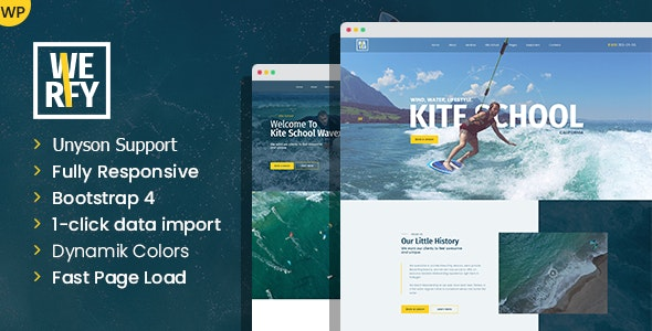 Werfy - Surfing & Water Sports WordPress theme - Business Corporate