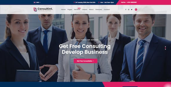 Consultint - Business, Finance Html Template