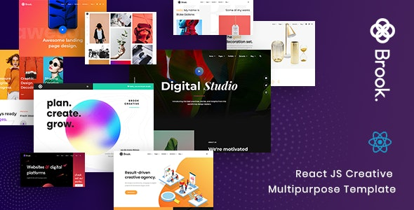 Brook - React JS Creative Multipurpose Template - Portfolio Creative
