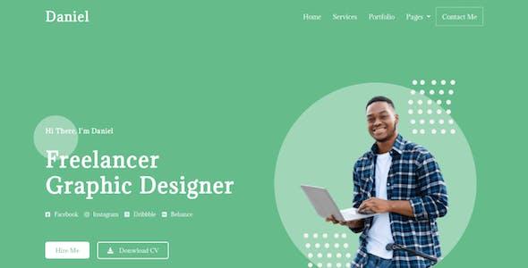 Daniel - Personal Freelancer Elementor Template Kit