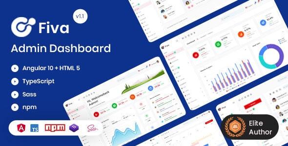Fiva - Angular 10 + HTML5 Admin Dashboard Template - Admin Templates Site Templates