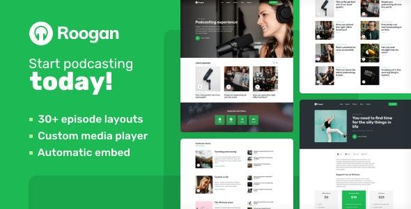 Roogan - Personal Audio Podcast WordPress Theme - Personal Blog / Magazine