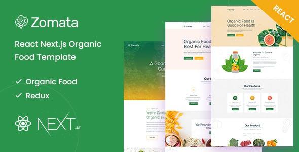 Zomata - React Next.js Organic Food Template