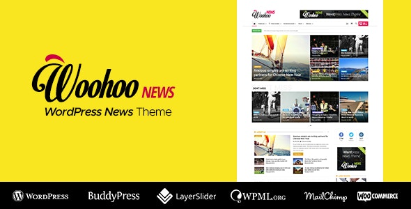WooHoo - Newspaper Magazine News BuddyPress AMP - News / Editorial Blog / Magazine