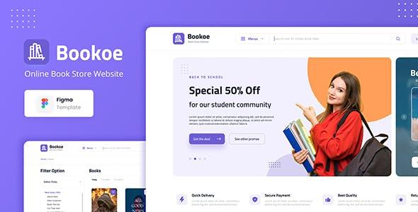 Bookoe - Book Store Website UI Design Figma Template