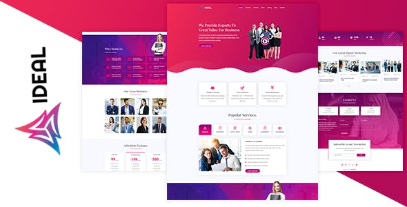 IDEAL - Business Landing Page