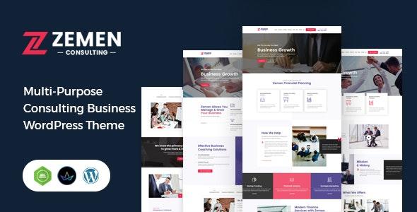Zemen - Multi-Purpose Consulting Business WordPress Theme - Business Corporate