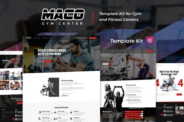 Maco Kit - Gym & Fitness Elementor Template Kit - Sport & Fitness Elementor
