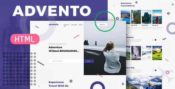 Advento - Travel One Page HTML - Travel Retail
