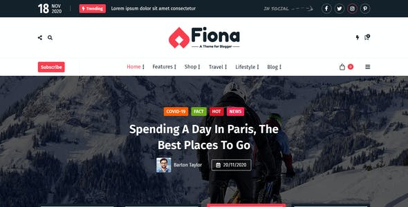 Fiona - Creative Blog PSD Template